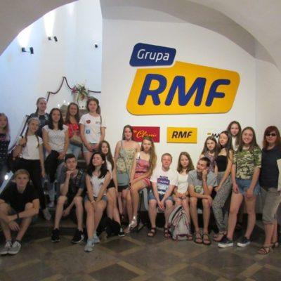 warsztaty dziennikarskie w siedzibie radia RMF
