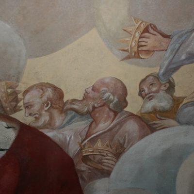 Fragment malowidła Stanisława Stroińskiego po konserwacji
