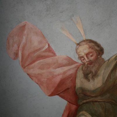 Fragment malowidła Stanisława Stroińskiego po punktowaniu