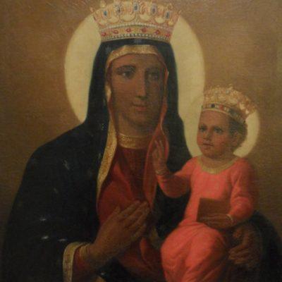 Obraz Matki Boskiej autorstwa J. Peszki