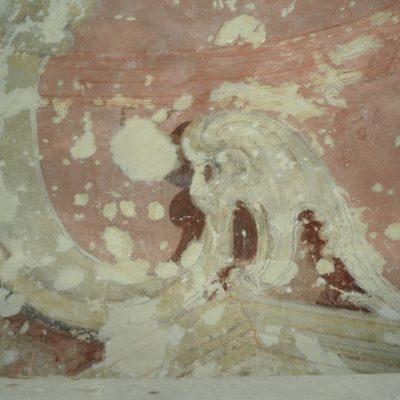 detal ołtarza przed konserwacją
