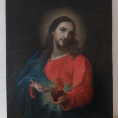 obraz Serca Pana Jezusa po konserwacji